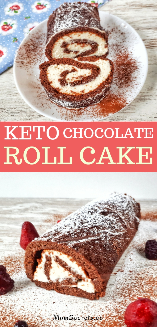 Chocolate Roll Cake is an easy and simple recipe for your Christmas table. This roll cake is low carb, keto, and sugar-free. It's completely to die for!