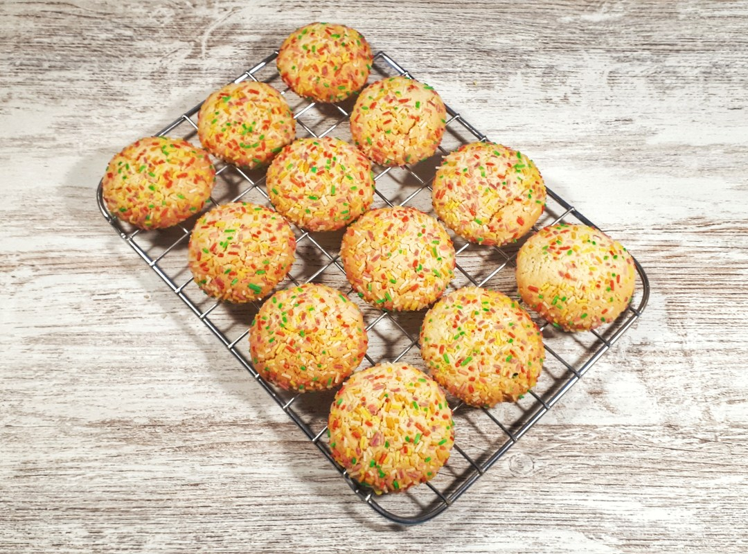 Sprinkle cookies are an easy and fun recipe that is perfect for holidaysand any kids birthda party. They are perfectly chewy and soft.