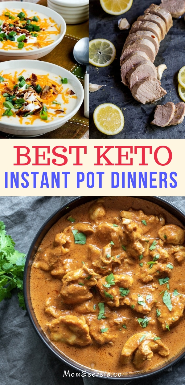 This collection of easy keto and low carb instant pot recipes are a healthy option for your busy weeknight dinners. #instantpot #ketodinner