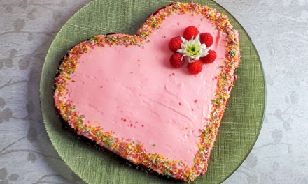 Valentine's Day Dessert – Red Velvet Heart-Shaped Keto Cake