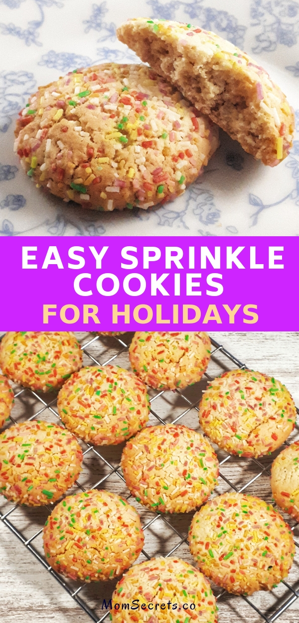 Sprinkle cookies are an easy and fun recipe that is perfect for holidaysand any kids birthday's party. They are perfectly chewy, soft and thick with a buttery consistency.