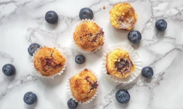 Keto Blueberry Coconut Macaroons