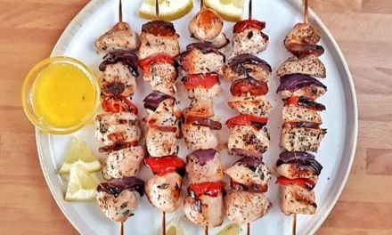 Keto Lemon Pepper Chicken Kebabs