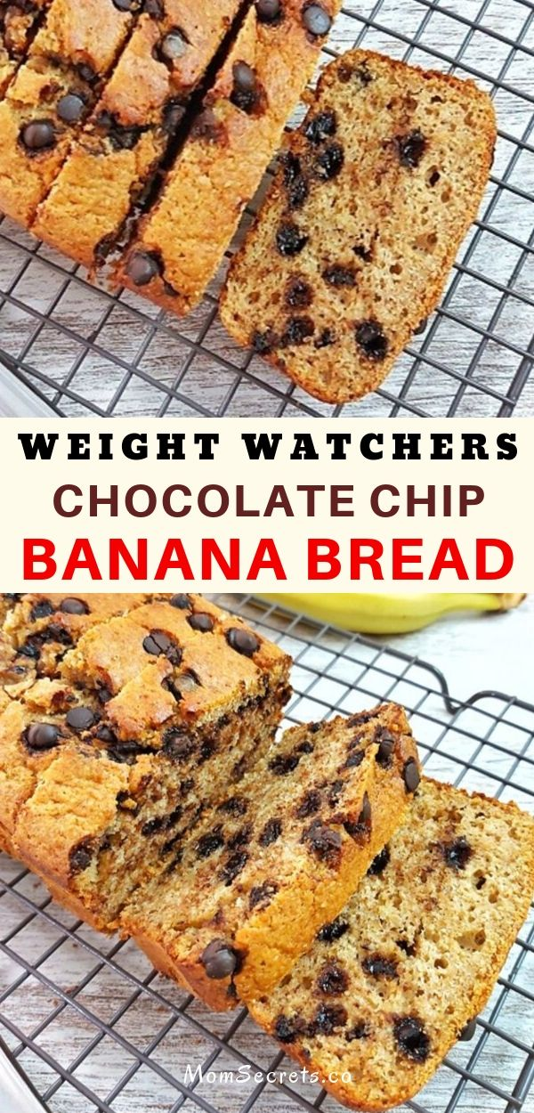 This weight watchers sugar-free Chocolate Chip Banana Bread is so good that you won't miss those extra calories!This recipe has only 6 Smartpoints|