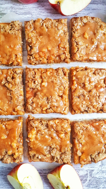 Paleo Apple Pie Crumb Bars are a delicious fall treat that combines a shortbread crust with apple pie and crumble topping. Perfect for holiday parties!