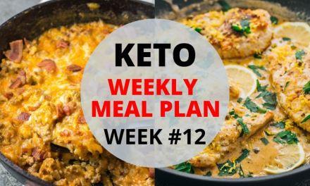 Weekly Keto Meal Plan – Week #12