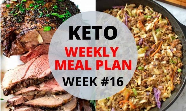 Keto Weekly Meal Plan – Week #16