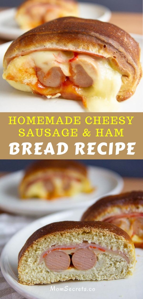 Make this freezer-friendly homemade cheesy sausage & ham bread with this easy recipe! You're going to fall in love with them!!