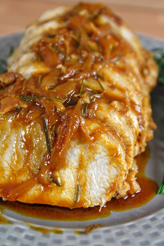 Pork Loin recipe is very easy to prepare and results in a juicy, tender and very flavorful meal. The meat, seasoned on a marinade, is cooked to perfection!