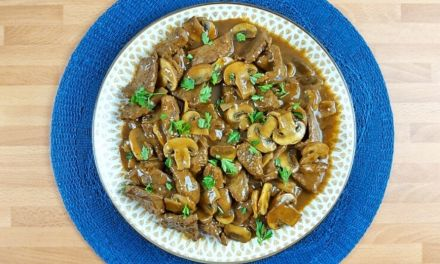 Keto Low Carb Asian Beef Tips with Mushroom Gravy