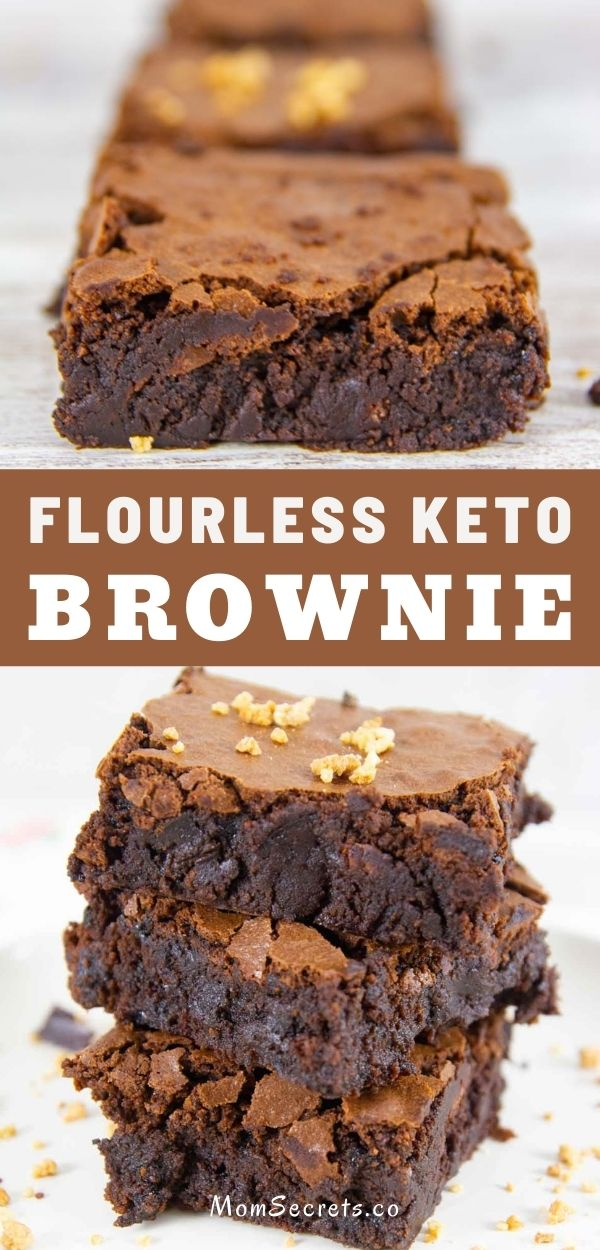 These flourless keto brownies are fudgy, easy to make, and literally, melt in your mouth. With simple ingredients, these brownies are so decadent and so divine!! #brownies #ketobrownies #flourlessbrownies