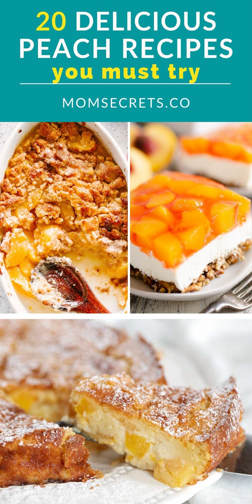 It's peach season! So I made a collection of peach recipes that include drinks, desserts, and more to help you celebrate this sweet summer fruit.