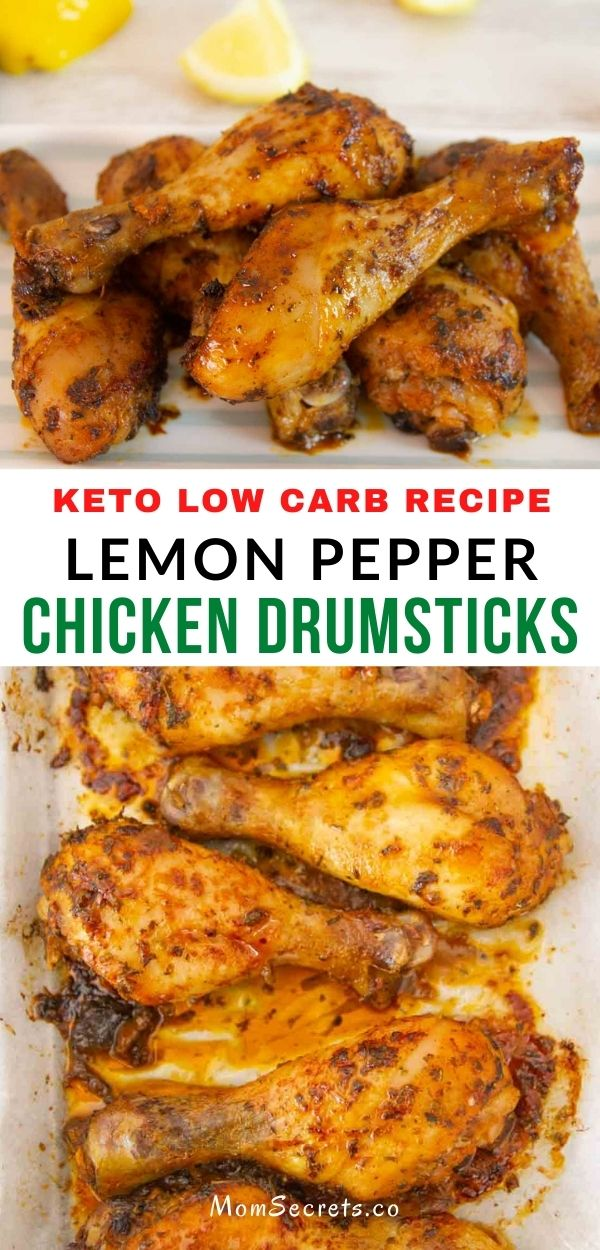 These Lemon Pepper Chicken Drumsticks are full of citrus flavor combine with a blend of spices. This easy dinner is perfect for any night of the week.