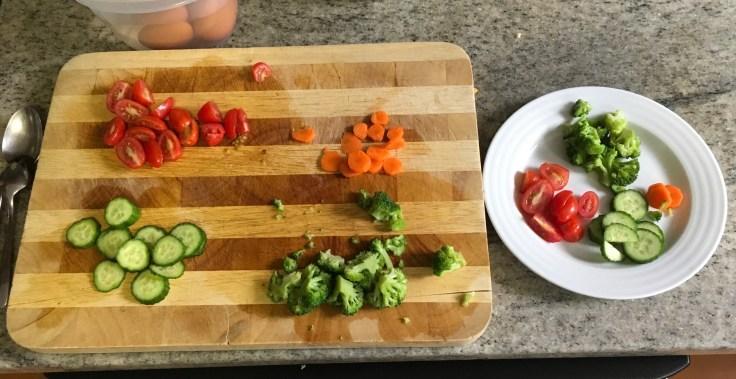 Chef's salad fixings.