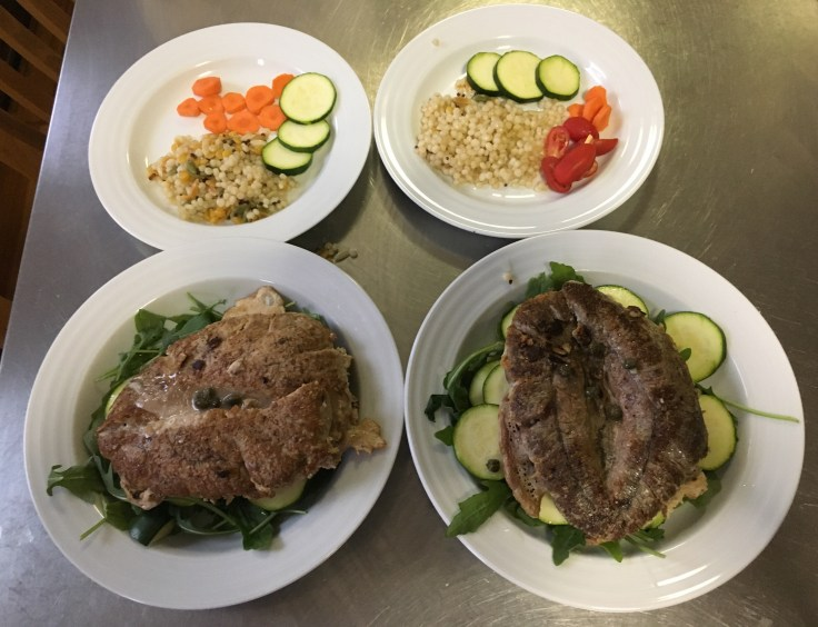 Shad Roe Grain Bowls plus Veggie Kids Meal