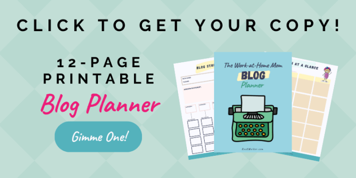 How to start a mom blog - 12-page printable blog planner