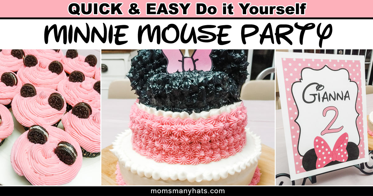 Fantastic Minnie Mouse Birthday Cake Diy Tutorial Instructions Moms Many Hats Funny Birthday Cards Online Alyptdamsfinfo