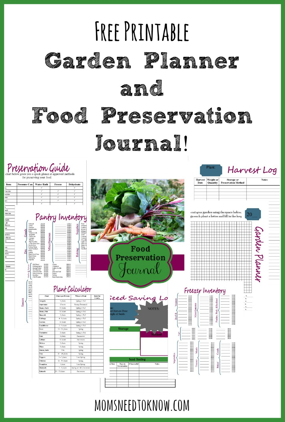 FREE Printable Garden Planner and Food Preservation ... on Patio Planner id=13499
