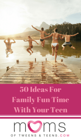 family activities with teens