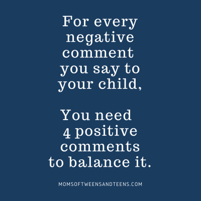 For Every Negative Comment, We Need 4 Positives