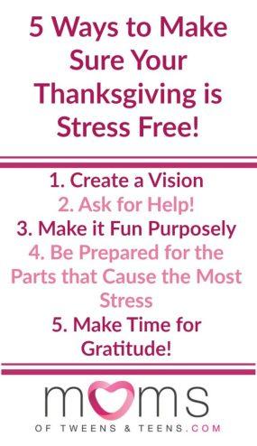 make thanksgiving less stressful