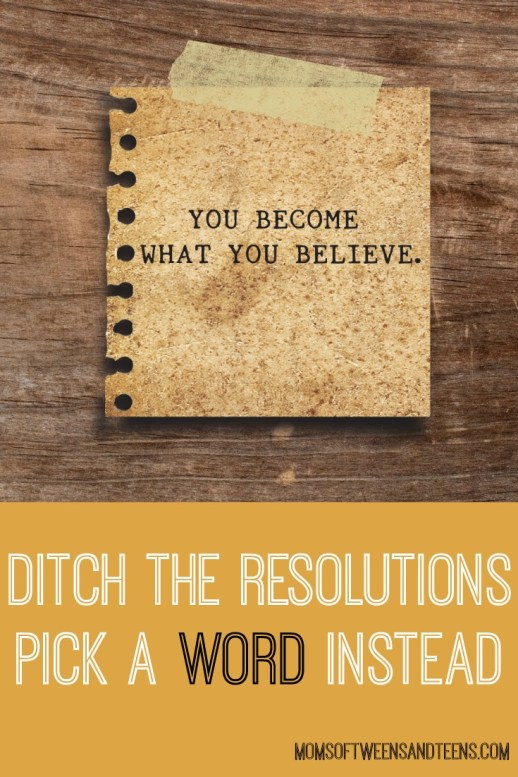 one word instead of resolutions