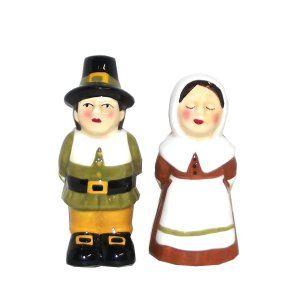 Ganz Mr. and Mrs. Thanksgiving Pilgrim Salt and Pepper Shaker Set