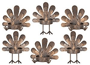 turkey tealight holders