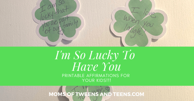 st patrick's affirmation shamrocks