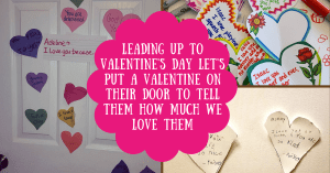 valentine's day hearts on doors