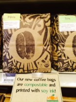 Compostable coffee bags!