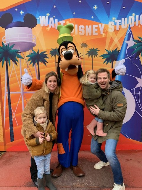 gezin disneyland goofy