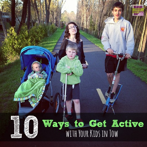 10 Ways to Get Active with Your Kids in Tow