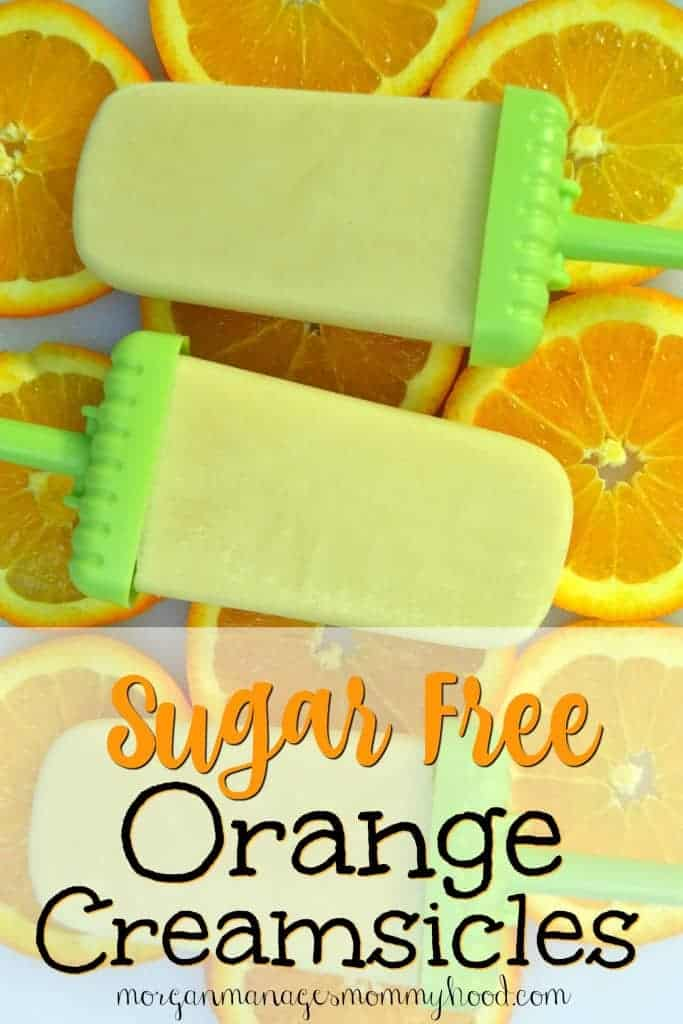 Sugar Free and Dairy Free Orange Creamsicles by Morgan Manages Mommyhood is a delicious summertime treat your kids will love!