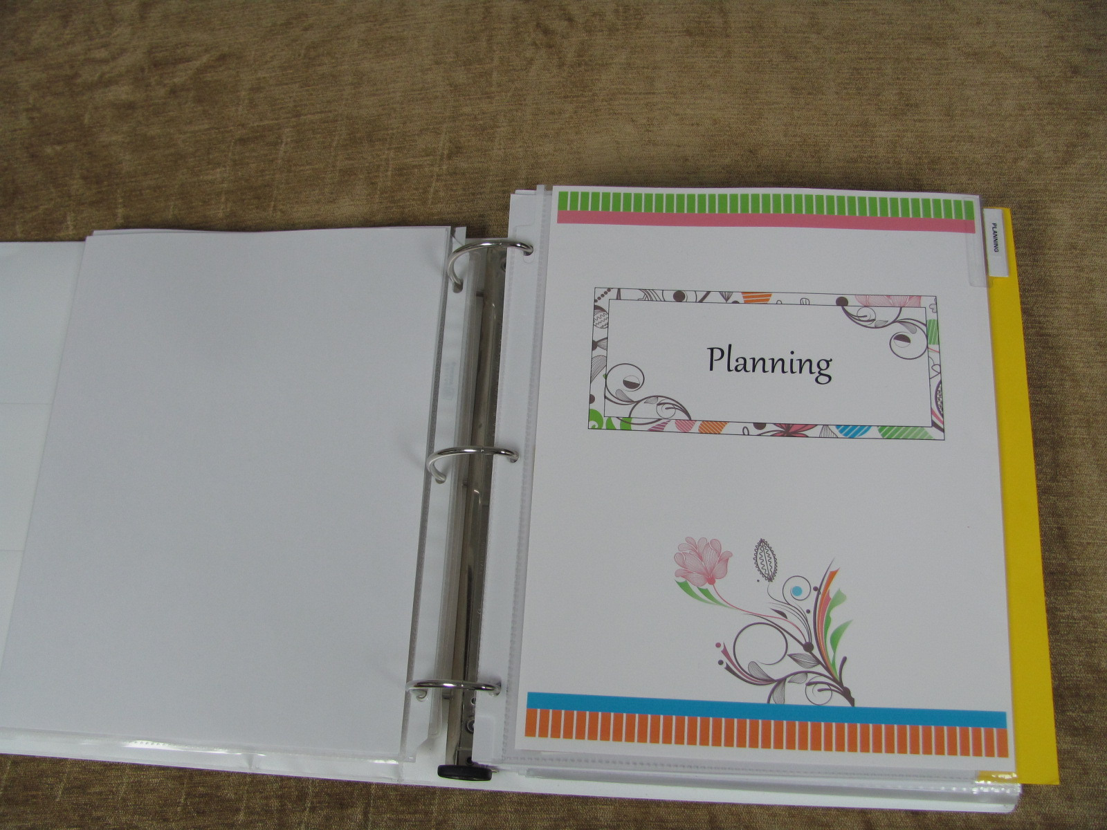 Make A Household Planner Notebook 4 My Planning Section