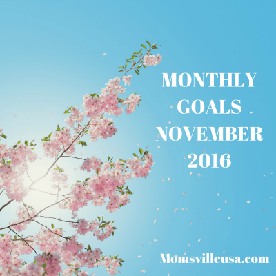 Monthly Goals – November – MomsvilleUSA