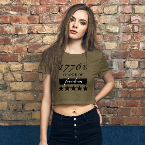 1776% Chance of Freedom Crop Tee