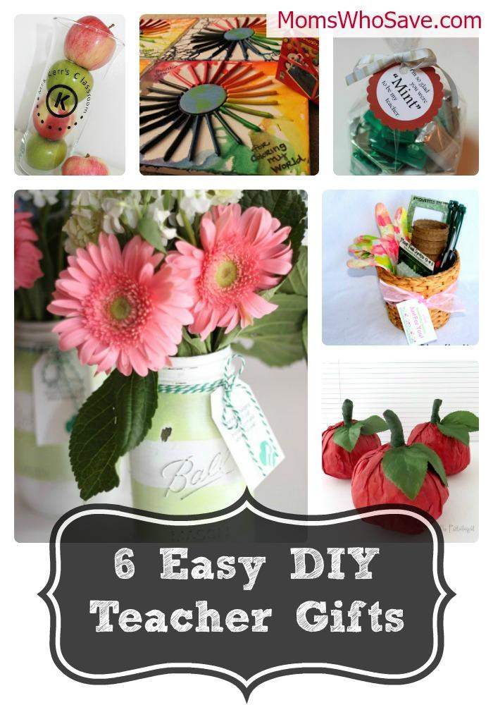 6 Easy DIY Teacher Gifts