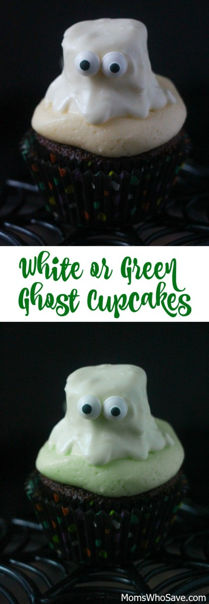 Ghost Cupcakes -- White or Green