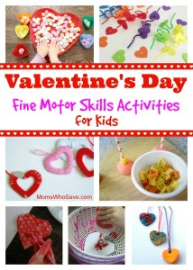Valentine's Day Fine Motor Skill Activities for Kids