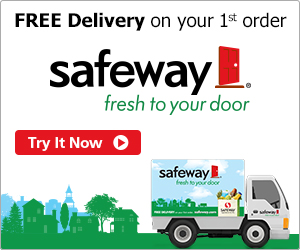 Safeway Grocery Free Delivery + $5 Off With Promo Code