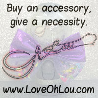 Buy an accessory, give a necessity.