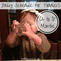 Daily Schedule for Toddlers -- 12 to 18 Months