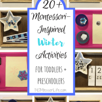20+ Montessori-Inspired Winter Activities for Toddlers and Preschoolers