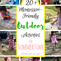 20+ Montessori-Friendly Outdoor Activities for Summertime
