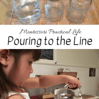 Montessori Practical Life -- Pouring to the Line