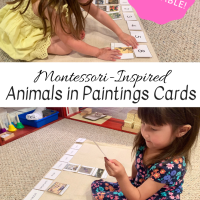Montessori-Inspired Animals in Paintings Cards -- Free Printable!