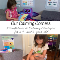 Our Calming Corners:  Mindfulness & Calming Strategies for a 4- and 6-year-old