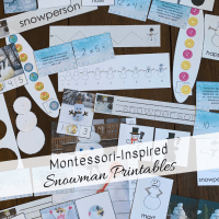 Montessori-Inspired Snowman Printables