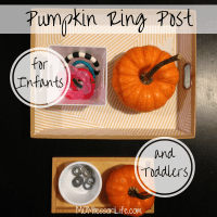 Pumpkin Ring Post for Infants and Toddlers